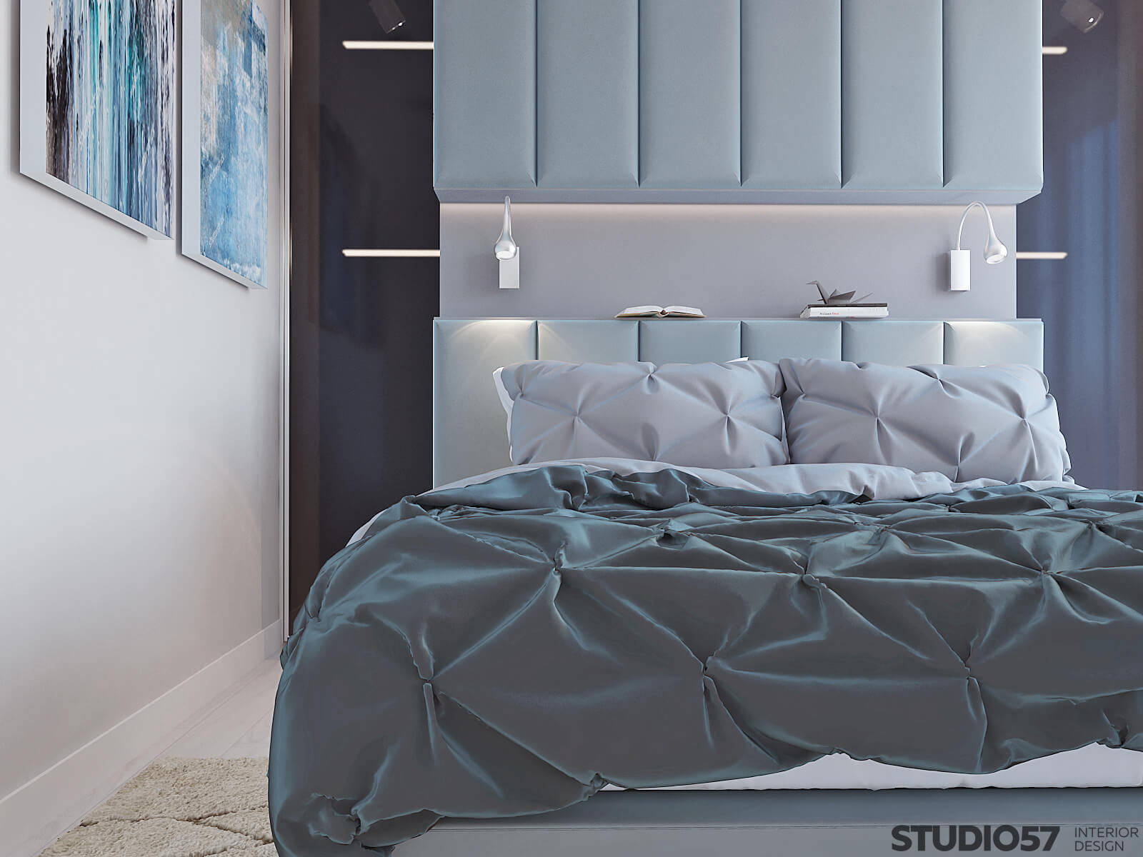 Photo of the bedroom in blue