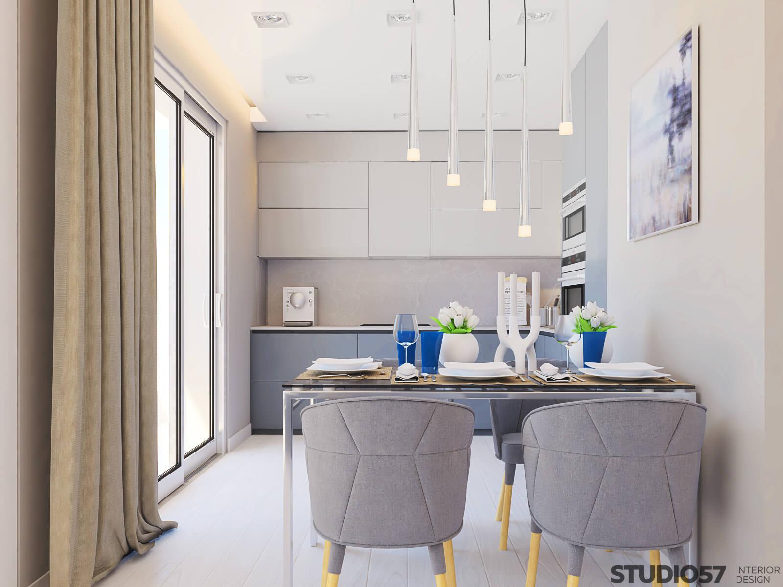 Kitchen lighting in white