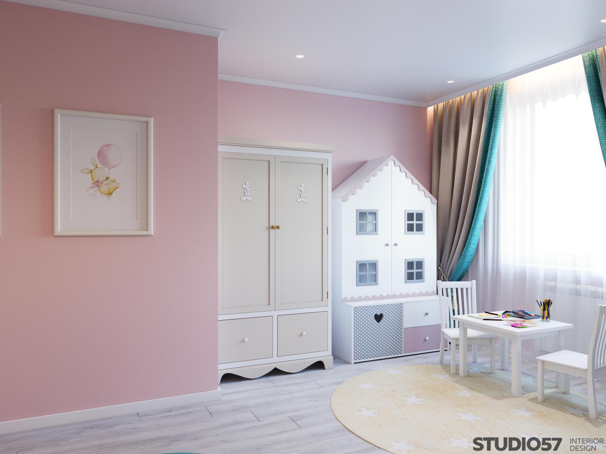 Photo of a pink nursery