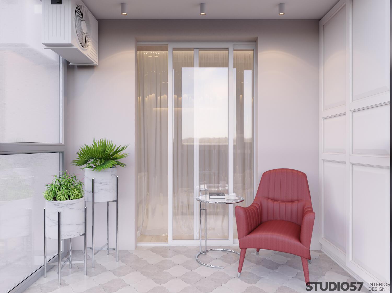 Interior design of the recreation area in the apartment photo